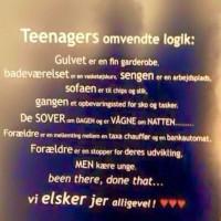 Teenagers omvendte logik