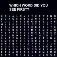 Gåde - Hvilke ord ser du først?